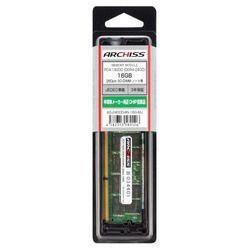 アーキサイト AS-2400D4N-16G-MJ PC4-19200 (DDR4-2400) 16GB 260pin SO-DIMM 取り寄せ商品