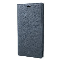 坂本ラヂヲ Shrunken-Calf Leather Book Case for iPhone XR Navy(GLC-72548NVY) 取り寄せ商品