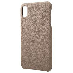 坂本ラヂヲ Shrunken-Calf Leather Shell Case for iPhone XS Max Taupe(GSC-72458TPE) 取り寄せ商品