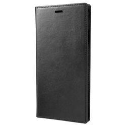 坂本ラヂヲ Italian Genuine Leather Book Case for iPhone XS Max Black(GLC-72418BLK) 取り寄せ商品