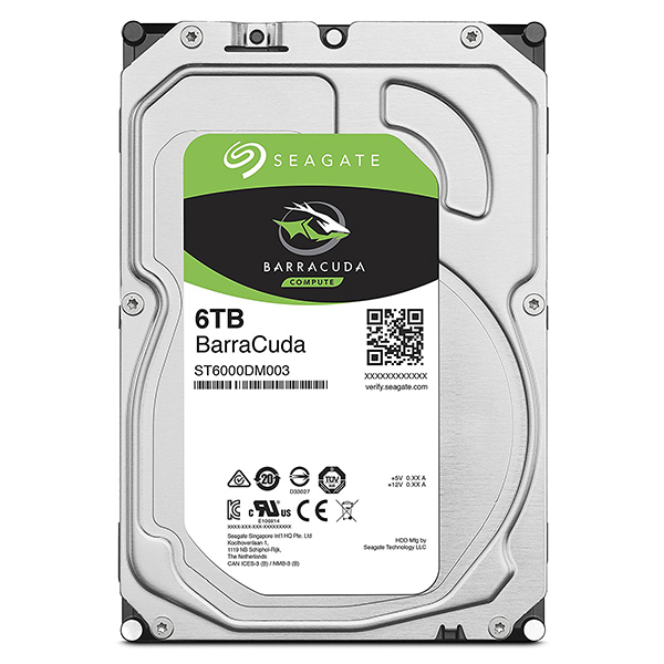 Seagate Guardian Barracudaシリーズ 3.5インチ内蔵HDD 6TB SATA 6.0Gb/s 256MB(ST6000DM003) 目安在庫=△