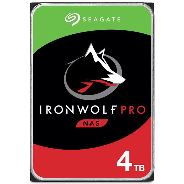 Seagate Guardian IronWolf Proシリーズ 3.5インチ内蔵HDD 4TB SATA6.0Gb/s 7200rpm 128MB(ST4000NE001) 取り寄せ商品