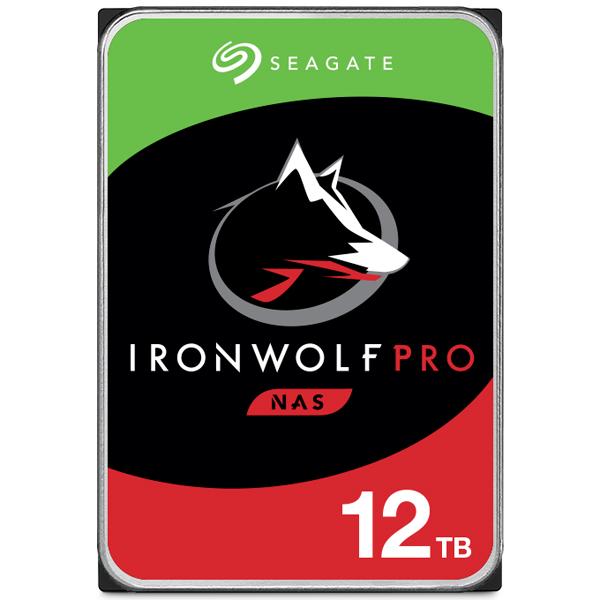 Seagate Guardian IronWolf Proシリーズ 3.5インチ内蔵HDD 12TB SATA6.0Gb/s 7200rpm 256MB(ST12000NE0008) 目安在庫=△