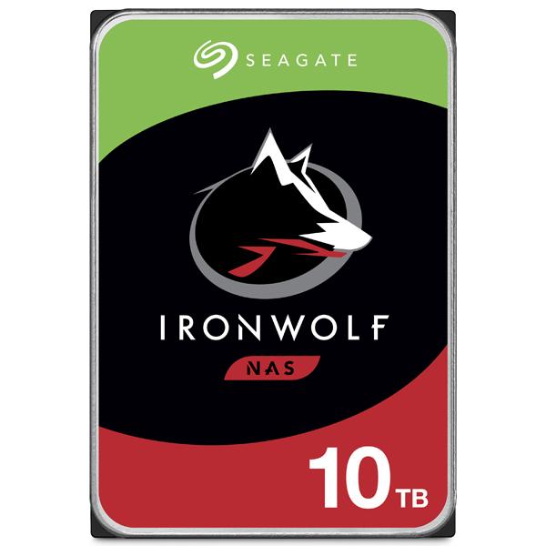Seagate Guardian IronWolfシリーズ 3.5インチ内蔵HDD 10TB SATA 6.0Gb/s 7200rpm 256MB(ST10000VN0008) 目安在庫=△