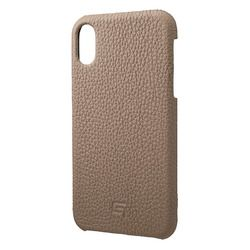 坂本ラヂヲ Shrunken-Calf Leather Shell Case for iPhone XR Taupe(GSC-72558TPE) 取り寄せ商品