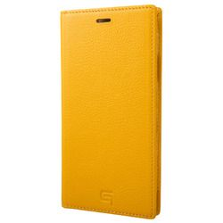 坂本ラヂヲ Italian Genuine Leather Book Case for iPhone XR Yellow(GLC-72518YLW) 取り寄せ商品