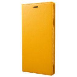 坂本ラヂヲ Italian Genuine Leather Book Case for iPhone XS Max Yellow(GLC-72418YLW) 取り寄せ商品