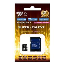 SuperTalent UHS-I Class10 対応 microSDXCカード 512GB ST12MSU1P 目安在庫=△