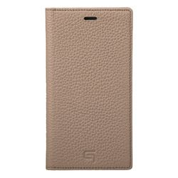 坂本ラヂヲ Shrunken-Calf Leather Book Case for iPhone XS/X Taupe(GLC-72348TPE) 取り寄せ商品