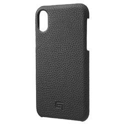 坂本ラヂヲ Shrunken-Calf Leather Shell Case for iPhone XS/X Black(GSC-72358BLK) 取り寄せ商品