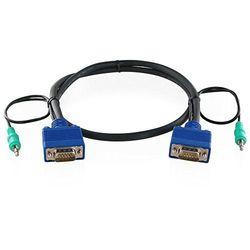 ハイパーツールズ 3.5mmステレオミニプラグ付全線結線VGAケーブル 30m(オス・オス)(VGA-MM-30MA) 取り寄せ商品