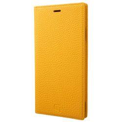 坂本ラヂヲ Shrunken-Calf Leather Book Case for iPhone XS Max Yellow(GLC-72448YLW) 取り寄せ商品