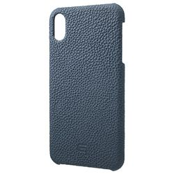坂本ラヂヲ Shrunken-Calf Leather Shell Case for iPhone XS Max Navy(GSC-72458NVY) 取り寄せ商品
