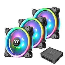 Thermaltake Riing Trio PLUS 12 RGB Radiator Fan TT Premium Edition -3Pack-(CL-F072-PL12SW-A) 目安在庫=○