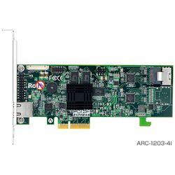 ARECA SerialATA III RAIDカード4ポート版 PCI-Express x 4 FOケーブル付(ARC-1203-4I) 取り寄せ商品