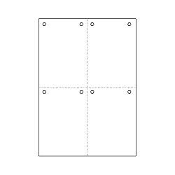 ヒサゴ FSC2007Z マルチプリンタ帳票FSC A4 白紙 4面 8穴 取り寄せ商品