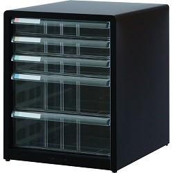 ナカバヤシ AL-C5-D アバンテV2 レターケースA4 浅3段×深2段 ブラック 取り寄せ商品