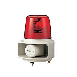 パトライト ホーンスピーカー一体型電子音回転灯 RT-100A-R 取り寄せ商品