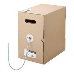 バッファロー BL5E3000LB BL5E3000LB Cat5e LANケーブル 300m 単線 ライトブルー 取り寄せ商品