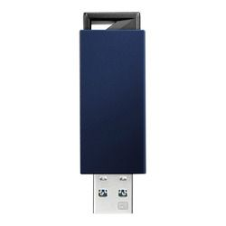 アイ・オー・データ機器 USB 3.1 Gen 1(USB 3.0)/2.0対応 USBメモリー 128GB ブルー(U3-PSH128G/B) 取り寄せ商品