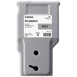 純正品 Canon キャノン PFI-206 PGY インクタンク フォトグレー (5313B001) 目安在庫=△