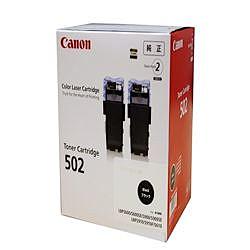 純正品 Canon キャノン CRG-502BLK2P トナーカートリッジ502 2P ブラック (9645A003) 目安在庫=○