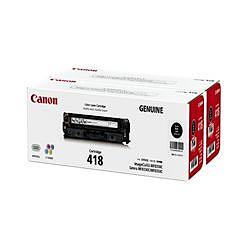 純正的物品Canon佳能CRG-418BLKVP粉盒418 VP(黑色)(2662B008)大致目標庫存=○