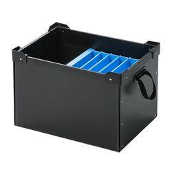 サンワサプライ プラダン製タブレット・ノートパソコン収納ケース(6台用) PD-BOX3BK メーカー在庫品