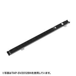 【P15S】サンワサプライ 19インチサーバーラック用コンセント(20A)(TAP-SV209BN) メーカー在庫品
