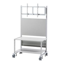 【P5S】サンワサプライ 55~84型対応液晶ディスプレイスタンド(CR-PL101SCGY) メーカー在庫品
