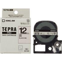 キングジム テプラPROテープ 灰/黒文字 12mm SC12H 目安在庫=○