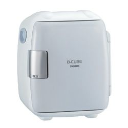 ツインバード 2電源式コンパクト電子保冷保温ボックス D-CUBE S(HR-DB06GY) 取り寄せ商品