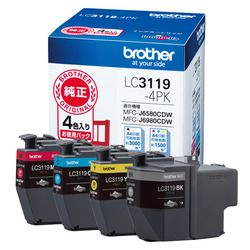 ブラザー インクカートリッジ 4色パック大容量 LC3119-4PK 目安在庫=△