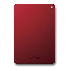 バッファロー HD-PNF1.0U3-BRE 耐衝撃対応 2.5インチ 外付けHDD 1TB レッド 取り寄せ商品
