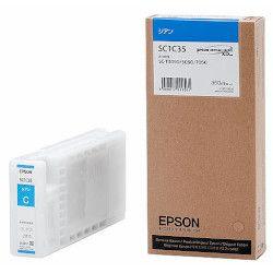 純正品 EPSON (エプソン) SC1C35 Sure Color用 インクカートリッジ/350ml(シアン) (SC1C35) 目安在庫=△