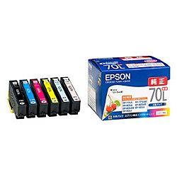 純正品 EPSON (エプソン) IC6CL70L カラリオプリンター用インクカートリッジ(増量6色パック) (IC6CL70L) 目安在庫=○