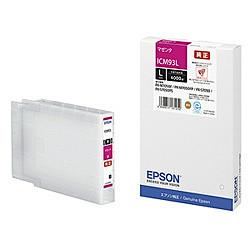純正品 EPSON (エプソン) ICM93L ビジネスインクジェット用 インクカートリッジ(マゼンタ) (ICM93L) 目安在庫=○