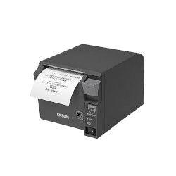 エプソン TM702BI952 レシートプリンター/前面操作/80mm幅/ダークグレー 取り寄せ商品