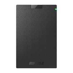 バッファロー HD-PGAC2U3-BA USB3.2(Gen1)対応ポータブルHDD Type-Cケーブル付 目安在庫=○