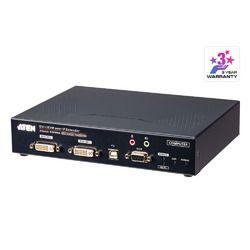 ATEN DVI-IデュアルディスプレイIP-KVMトランスミッター(デュアル電源)(KE6940AT) 取り寄せ商品