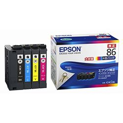 エプソン IC4CL86 インクカートリッジ(4色パック/大容量) 目安在庫=△