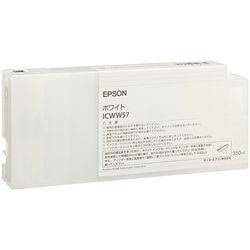 純正品 EPSON (エプソン) ICWW57 PX-W8000用 インクカートリッジ/ホワイト/350ml (ICWW57) 取り寄せ商品