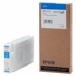 純正品 EPSON (エプソン) SC1C11 Sure Color用 インクカートリッジ/110ml(シアン) (SC1C11) 目安在庫=○