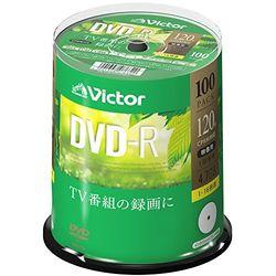 ビクター(Victor) 1回録画用 DVD-R (片面1層/1-16倍速/100枚)(VHR12JP100SJ1) 取り寄せ商品