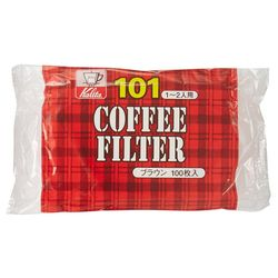 KALITA (カリタ) コーヒーフィルター 101濾紙 100枚入 ブラウン【80セット】(NK101ロシブラウン100*80) 取り寄せ商品