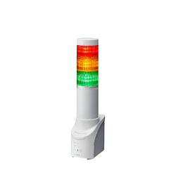 パトライト ネットワーク監視表示灯、ブザー付、60Φ、3段赤黄緑、アダプタ無(NHL-3FB2N-RYG) 取り寄せ商品