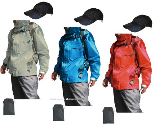 レインウェアもハイブリッドの時代 ジャケットは透湿素材で軽量快適化し パンツは重厚ヒップ二重補強等で耐久性を追及した