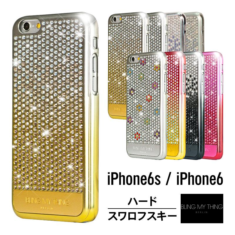 iPhone6s ケース iPhone6 ケース スワロフスキー キラキラ ラインストーン 最高級 ラグジュアリー モデル 薄型 スリム ハード カバー 大人 女子 大人 かわいい ハンドメイド スワロ ブランド アイフォン6s アイフォン6 アイホン6s アイホン6 対応 Bling My Thing Cascade