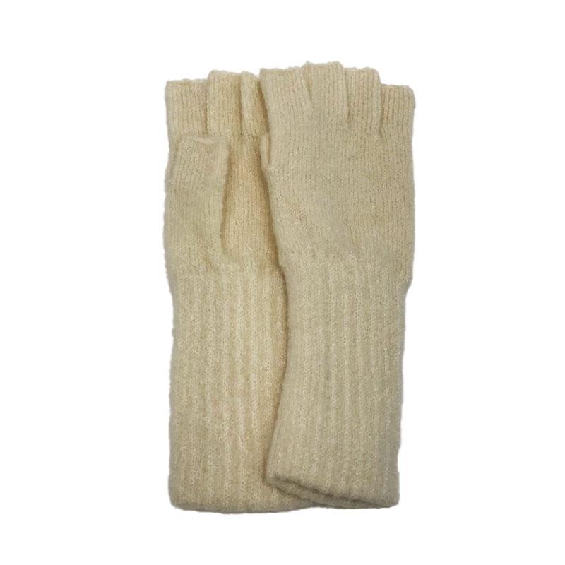 SALE【Finissage】 ニットオープンフィンガーグローブ(8色) フィニサージュ 手袋 五本指 カラフル ナチュラル スタンダード ヘミングス セール