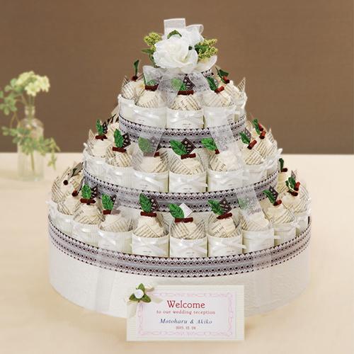 プチギフト シャンティークリームケーキタオル(42個) 結婚式 二次会 プチギフト 激安 かわいい タオル ウェディング ウエディング ブライダル プチギフト ウエルカムケーキ パーティー